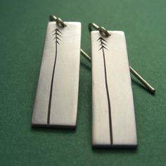 Lancewood/Pine Tree Sterling Silver Earrings
