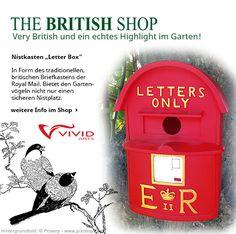 Very British – dieser Nistkasten sieht aus wie ein traditioneller Briefkasten!