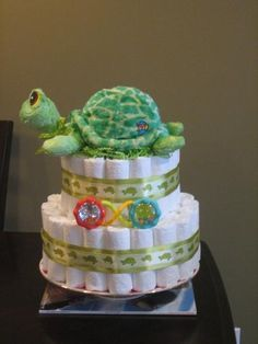 baby shower diaper cakes | Turtle