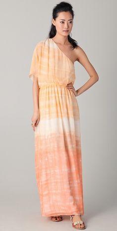 Alice + Olivia Crawford One Sleeve Maxi Dress