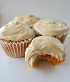 Spiced Pumpkin Cupcakes.. perfect dessert for fall!    Ingredients:   1 can pumpkin  1 box yellow cake mix (your favorite brand)  3 eggs  2 cups sugar  2 tsp cinnamon  1/2 tsp ground ginger  1/2 tsp nutmeg  1 cup evaporated milk    bake at 350 for 18-20 minutes