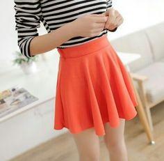 19 mejores imágenes de faldas anaranjadas  54f431a86e00