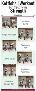 This intermediate kettlebell workout is perfect if you're new to kettlebells or may be a little intimidated by them! Learn why and how to use kettlebells efficiently and effectively. Pictures and…MoreMore #FitnessExercises