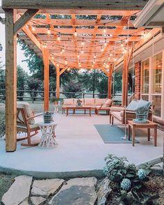 37 awesome backyard ideas for patios, porches, and decks 25 Pergola Ideas Backyard Patio Designs, Pergola Designs, Backyard Landscaping, Backyard Ideas, Patio Ideas, Landscaping Ideas, Porch Ideas, Oasis Backyard, Backyard Greenhouse