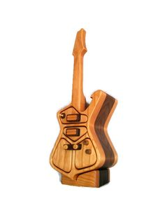 Ibanez iceman guitar jewelry box bandsaw box groomsmen by RoysBox