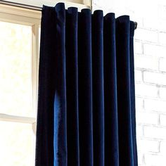 No room is complete without curtains. Most people are not sure about the designs and styles of curtains that they should use in their living rooms. There are many designs and patterns in curtains, but not every design can complement Navy Curtains Bedroom, Dark Blue Curtains, Blue Curtains Living Room, Blue Velvet Curtains, Dining Room Curtains, Drapes Curtains, Curtain Panels, Blackout Curtains, Silk Drapes
