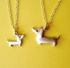 Dachshund Necklaces Dog Necklaces Mother and Child sterling silver mom jewelry family necklace christmas day pet for teen for kids mom gift by zoozjewelry on Etsy https://www.etsy.com/listing/103096601/dachshund-necklaces-dog-necklaces-mother