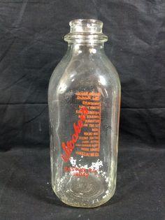 Stocker Brothers Dairy Milk Bottle Easton Pa Vintage 1qt