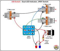 3PDT Wiring / DPDT Wiring 3PDT Switch, DC Jack & LED - Guitar Pedal Switching 3PDT Switch, No DC Jack & LED - Guitar Pedal Switc...