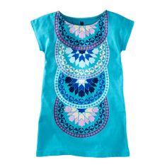 Mosaic Tile Graphic Dress Malibu Blue Sz 2