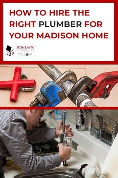 When plumbing incidents happen, do you know who to call? There are several options out there and not all plumbers are the same. Check out our guide for some quick tips on how to hire the right plumber for your home! Licensed Plumber, Madison Homes, Plumbing Emergency, Online Reviews, Online Checks, Are You The One, Tips, Advice, Hacks