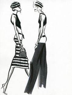 Fashion illustration - fashion sketches for Ralph Lauren // Audrey Schilt