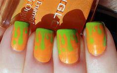 Nickelodeon Slime Halloween Manicure