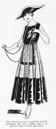 1915 day dress from The Gentlewoman's Magazine
