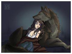 "Safety by *PaolaPieretti on deviantART ""He was my friend, my love, and my guardian. As long as he was with me I was safe."""