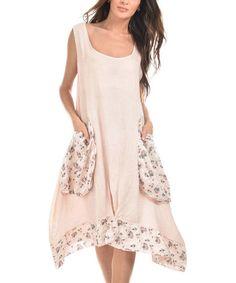 Another great find on #zulily! Light Pink Anne Linen Dress #zulilyfinds