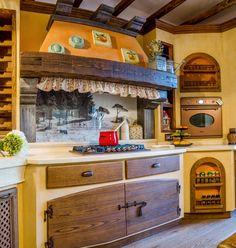 cocinas rusticas amarillas - Buscar con Google
