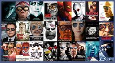 cliché movie posters, reflections on the sunglasses