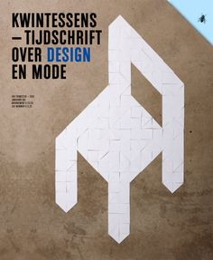 cover kwintessens magazine - theme: design with one corner missing