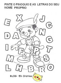 Alfabetização: História do Pinoquio personagens