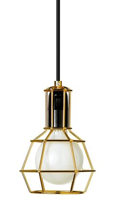 Gold Work Lamp by Design House Stockholm Interior Lighting, Modern Lighting, Chandeliers, Design House Stockholm, Work Lamp, Geometric Form, Geometric Lamp, Gold Work, Arquitetura