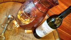 Vidal Blanc-Barrel Aged dry white wine from Thistlethwaite Vineyards