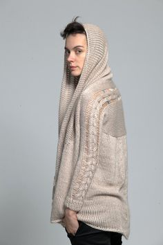 Cable knit waterfall cardigan- duendefashion.com