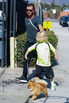 Gavin Rossdale takes his son Zuma to see Gwen at a studio