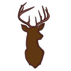 Deer, Buck digitized hunting machine embroidery Applique design - Instant Download -4x4 , 5x7, and 6x10 hoops