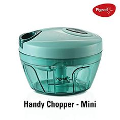 Pigeon by Stovekraft New Handy Mini Plastic Chopper with 3 Blades, Green Made from unbreakable ABS plastic for long-lasting use, Mater. Kitchen Items, Kitchen Gadgets, Kitchen Appliances, Kitchen Products, Kitchen Tools, Mini Chopper, Vegetable Chopper, Types Of Vegetables, Sell On Amazon