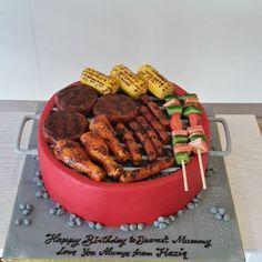 #fondantcake #birthdaycake #bruneicake #pastry #bbqcake