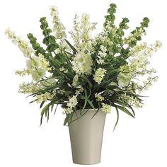 27-in. Artificial Bells Of Ireland Floral Arrangement, Beig/Green (Beig/Khaki)