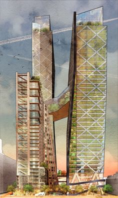 Architectural Drawing Design hickok cole architects demonstrates the viability of mass timber high-rise in the US - Timber Architecture, Timber Buildings, Architecture Images, Concept Architecture, Futuristic Architecture, Sustainable Architecture, Residential Architecture, Amazing Architecture, Online Architecture