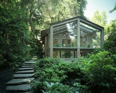 Glashaus Holz Glas Konstruktion Gemüse Stein Treppe