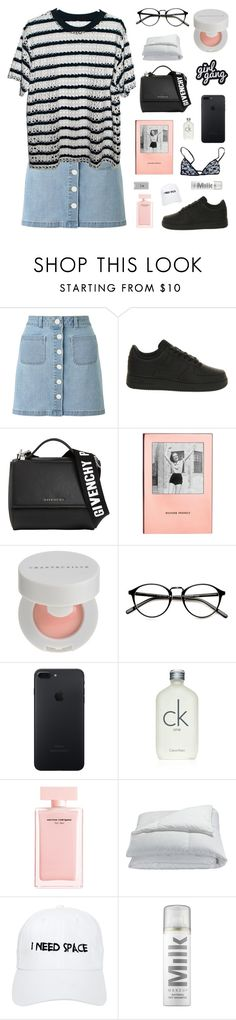 """""""ten out of ten"""" by jesicacecillia ❤ liked on Polyvore featuring Miss Selfridge, NIKE, Givenchy, Kate Spade, Chantecaille, Calvin Klein, Narciso Rodriguez, Frette, Nasaseasons and Belkin"""
