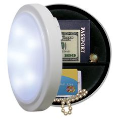 9a25d4c607e Wireless Closet Light with Concealed Safe - 8 Diameter