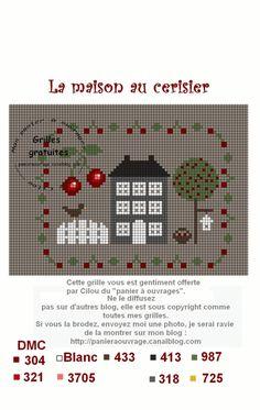 la maison au cerisier plein d'autres petites grilles chez http://panieraouvrage.canalblog.com