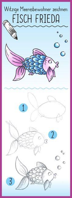 Diverse Fische zeichnen | Fische wand | Pinterest | Fische, Zeichnen ...