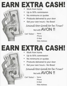 Earn Extra Cash Recruiting Flyer