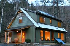 passive and active solar home - builder in Asheville (Springtime Homes)