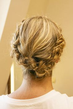 How to Create a Crown of Braids Yourself: The final look is a crown of braids that's easy to do yourself.