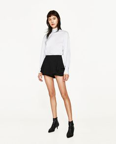 Image 1 of FLOWING FRILLED SHORTS from Zara