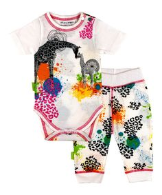 Look at this Pink Emerald Jungle Organic Bodysuit & Play Pants - Infant on #zulily today!