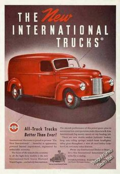 1941 International Panel Truck Ad