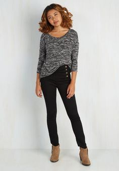 Set Sailorette Jeans in Black. Even when you arent actually sailing the open…