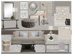 Let the purchasing commence for this open floor plan #themoodthough #deep #rich #contrast #monochromatic #familyroom #conversationarea #conceptboard #furniture #fixtures #finishes #fireplace #woodenbeige #polishednickels #matteblack #woods #basketweave #upholstery #romanshades #benjaminmoore #contemporaryrustic #interiordesign #interiordesigner #cambridgeproject