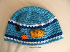 Free crochet patterns and DIY, crochet charts: The Fish Hat