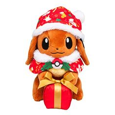 Pokemon Center Original stuffed Eevee Christmas gift box ver. (with Pokemon Center appropriate tag) – Pokemon Celebrate Christmas