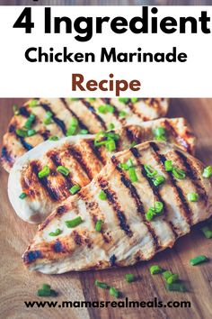 This amazing chicken marinade starts with just soy sauce and water, then when you add in honey and garlic, your left with the most amazing chicken marinade that you ever tasted! You can use this recipe to grill, bake, fry or toss in your slow cooker! Chicken Marinade Recipes, Asian Chicken Recipes, Chicken Marinades, Clean Eating Chicken, Clean Eating Dinner, Easy Dinners, Quick Meals, Good Healthy Recipes, Ground Beef Recipes