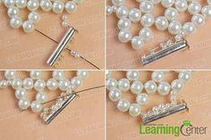Add some pearl beads to the 2 sides of the lock clasp